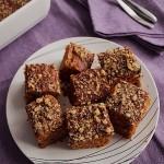 Постен тиквен кейк с орехи