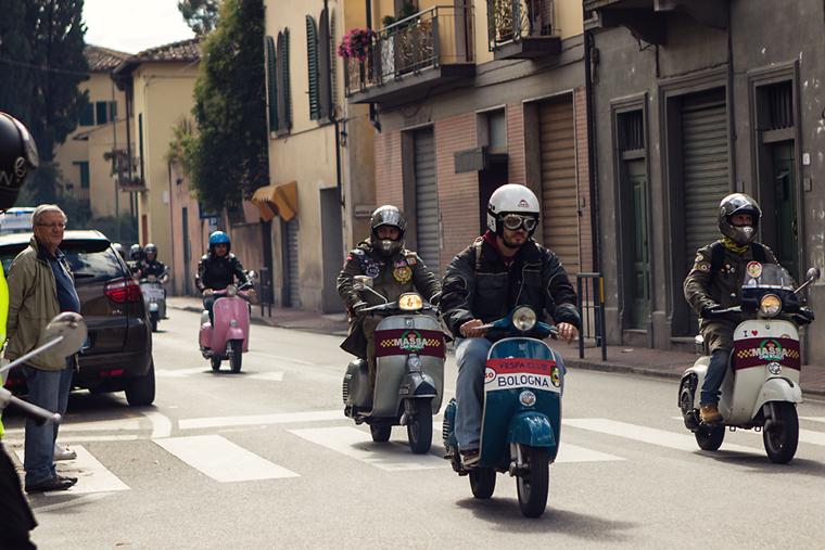 мотористи в Кианти, Тоскана