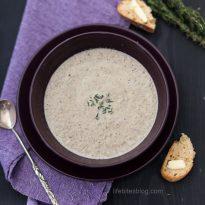 Крем супа с тиквички и гъби