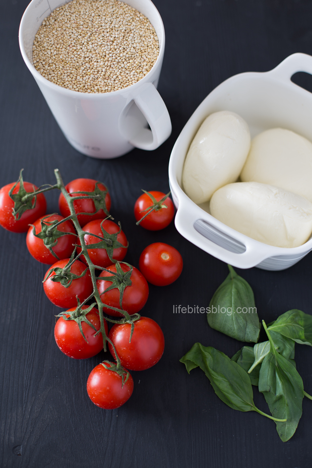 Моцарела, домати и босилек