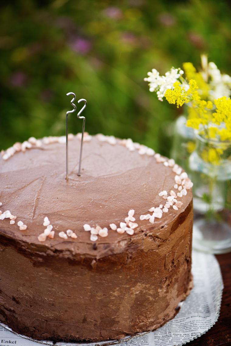 Chocolate cake with dulche de leche