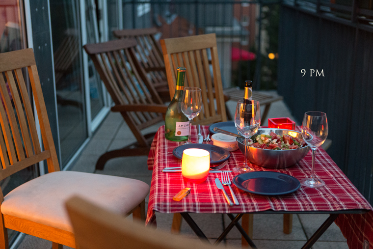 Dinner at the terrasse