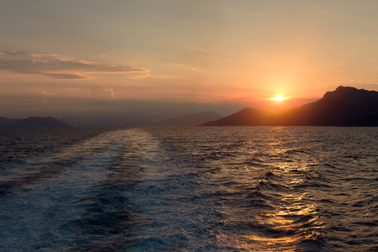 Ferry to Skopelos, Greece