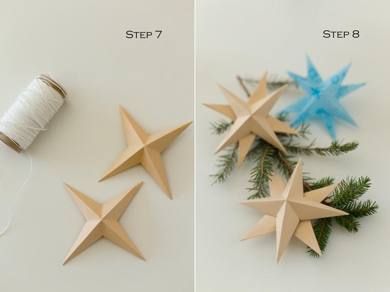 DIY Коледна звезда