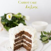 Морковена торта делукс